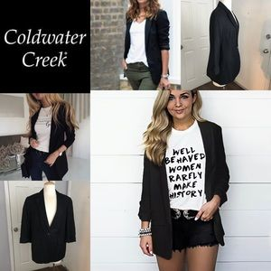 Coldwater Creek Black one button Blazer Jacket 12